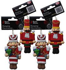 4X Navidad Cascanueces Soldado Decoración Sal Masa Saltdough Bola Figuras