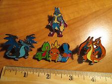 PL Mega M CHARIZARD+LUCARIO EX+TREECKO+TORCHIC+MUDKIP Metal PIN/BADGE Pokemon XY