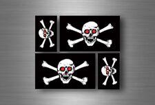 4x adesivi adesivo sticker bandiera vinyl tuning pirata teschio pirati r4