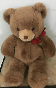 """Vintage GUND 16"""" TALL TEDDY BEAR WITH RED BOW New 1983"""