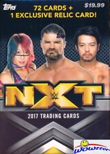 2017 Topps WWE Wrestling NXT Factory Sealed Blaster Box-72 Cards & RELIC
