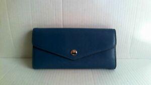 Michael Kors Greewich Carryall Blue/Sky Color Slim Wallet Purse MSR:$138