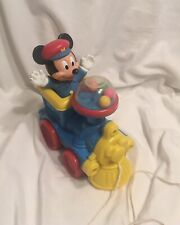 New listing Vintage Mickey Mouse Pull Toy Train With Popping Balls