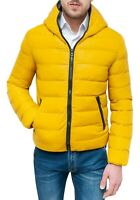 Giubbotto piumino uomo Diamond invernale giallo slim giacca giubbino da S a 5XL