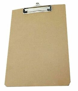 Scheibunterlage Klemmbrett DIN A4 recyceltes Holz MDF Clip Board Schreibbrett