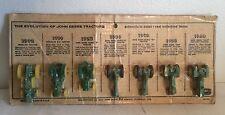 John Deere Vintage Toy Tractor Historical Evolution Set On Card ERTL 1/64 Rare!