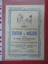 SUPPLEMENT  JOURNAL  TINTIN  1947   FILM  TINTIN   ET  MILOU   RARE
