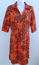 J.MCLAUGHLIN NWT Women's 3/4 Sleeve Harbor Dress in Dark Rust Mega Swirl SZ S