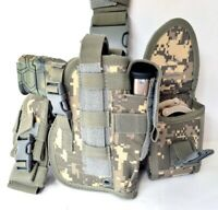 Tactical Drop Leg Thigh Gun Pistol Holster Color Glock Sig H&K S&W (Digital ACU)