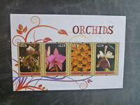 2011 CANOUAN ORCHIDS 4 STAMP MINI SHEET MNH