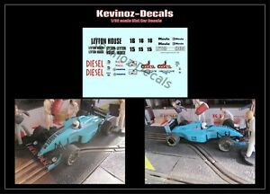 1/32 Scale Decals for Scalextric / NSR.  March 881 - Leyton House Livery 1988