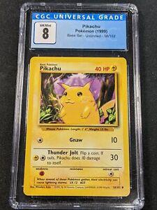 Pokemon TCG - CGC 8 - Pikachu - Base Set 58/102