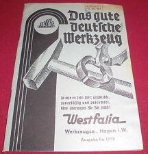dachbodenfund versandhaus katalog IIa   WWco westfalia werkzeug hagen i.W 1952