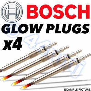 4x BOSCH Genuine Diesel D Glow Plugs PEUGEOT 306 1.9 XRDT, XTDT (TURBO) 93-->98