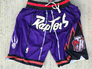 New Toronto Raptors Shorts Purple All Stitched Size:S-XXL