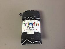 NWT Girl's Trimfit Cotton/Spandex Tights Size 6-8 Oxford Heather w/ Design #128R