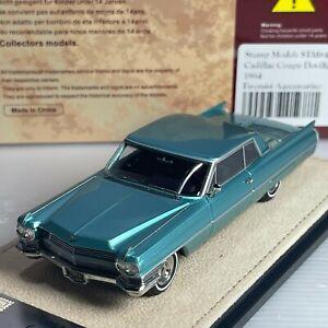 1/43 GLM Stamp Cadillac Coupe Deville 1964 Firemist Aquamarine STM64601