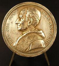 Médaille papale Vatican Léo XIII 1900 Reclusi Caelestes 43mm silver argent medal