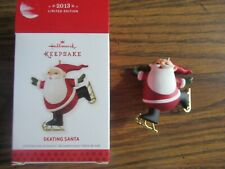 Hallmark Keepsake Skating Santa ornament in box