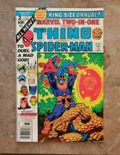 MARVEL TWO-IN-ONE  ANNUAL #2   THANOS/STARLIN High grade!!!
