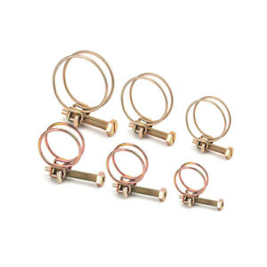 M12 M16 M19 M25 M29 M32 Steel Double Wire Hose Clamps Hose Clamps Vintage Style