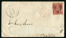 Barbados 1861 6d SG 11a used on envelope to England (cat. £180 x5) address cut