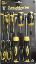 Pro Build Tools 8 Piece Screwdriver Set Crome Vanadium With Magnetised Tips