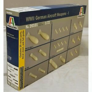 Italeri 26101 WWII German Aircraft Weapons I 1/72 scale plastic model kit