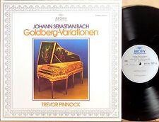 ARCHIV GERMANY JS Bach PINNOCK Goldberg Variations GATEFOLD 2533 425 NM