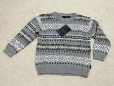 NWT Izod Boys Todder Size 4 Fair Isle Pullover Sweater Christmas $34