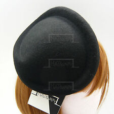 VINTAGE Wool Felt Women Pillbox Hat Ladies Fascinator   Twist   Beige Grey Brown