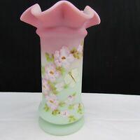Fenton Lotus Mist Burmese FAGCA Hand Painted Vase 2005 W425