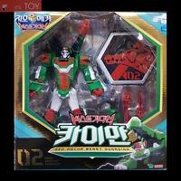 Geo Mecha Beast Guardian 02 CAIMAN Green Alligator Transformer Robot Young Toys