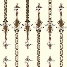 Giraffen Beige Braun Canvas Biostoff Biobaumwolle Baumwollstoff Jeans