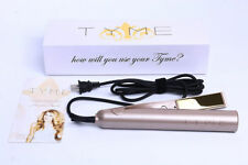 New TYME Iron 2 in 1 Hair Straightening Curling Gold Plated Titanium.!