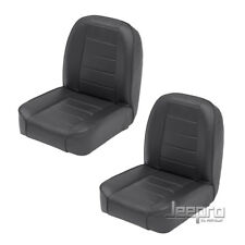 Smittybilt Package Deal! Front PAIR Low Back Bucket Seat For 55-76 Jeep CJ