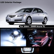 9PCS Cool White Interior LED Bulbs Package Kit for 2005 Acura TL