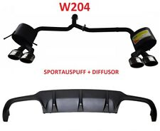 Mercedes W204 Sportauspuff C63 Diffusor C Klasse Auspuff Heckansatz Exhaust Amg