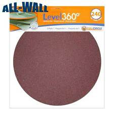 "Radius 360 Drywall Sanding Discs, 9"" 240-Grit (5 Pack) Fits PC 7800 *NEW*"
