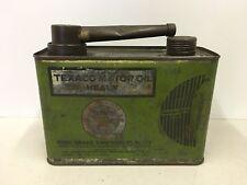 Vintage Texaco Half Gallon Handy Grip Oil Can Easy Pour Spout Metal Can
