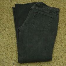 J Crew Jeans Women's Black Straight Leg Matchstick Faded 28 (Measures 29 x 30.5)
