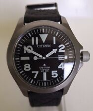 Citizen Eco-Drive Pro-Master **BN0118-04E** Titanium Fabric Strap Watch UK Stock