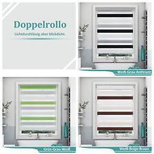 Doppelrollo Verdunkelungsrollo Klemmfix Rollo ohne Bohren Klemmrollo Fenster Tür