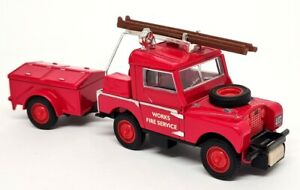 Matchbox Yesteryear - YFE02 1948 Land Rover Auxiliary Fire Engine Red Wheels