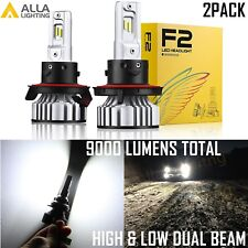 Alla Lighting LED H13 Headlight How Low Dual Beam Bulb Replacement Upgrading vs
