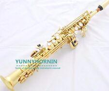 Professional GOLD Sopranino Sax Eb Straight Soprano Saxophone Case Mouthpiece