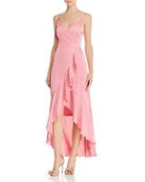 Laundry by Shelli Segal Ruffled Satin Dress MSRP $228 Size 4 # 8A 1233 B