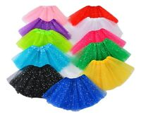 Ladies Kids Sparkly Sequin Ballet Tutu Party Fancy Dress Dance Halloween Skirts