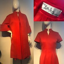 Vintage 1970s LILLI ANN Red Swing Coat And Fitted Dress