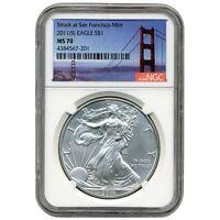 2011(S) US Mint $1 American Silver Eagle 1 oz Silver Coin NGC MS-70 Bridge Label